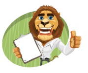 Business Lion Vector Cartoon Character AKA Lionello - Shape 4