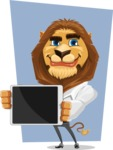Business Lion Vector Cartoon Character AKA Lionello - Shape 5