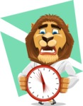 Business Lion Vector Cartoon Character AKA Lionello - Shape 8