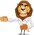 Business Lion Vector Cartoon Character AKA Lionello - Show 2