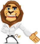 Business Lion Vector Cartoon Character AKA Lionello - Show