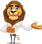 Business Lion Vector Cartoon Character AKA Lionello - Showcase