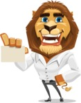 Business Lion Vector Cartoon Character AKA Lionello - Sign 1
