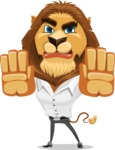 Business Lion Vector Cartoon Character AKA Lionello - Stop 2