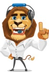 Business Lion Vector Cartoon Character AKA Lionello - Support 2