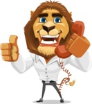 Business Lion Vector Cartoon Character AKA Lionello - Support