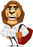 Business Lion Vector Cartoon Character AKA Lionello - Travel 2
