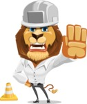 Business Lion Vector Cartoon Character AKA Lionello - Under Construction 1
