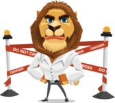 Business Lion Vector Cartoon Character AKA Lionello - Under Construction 2