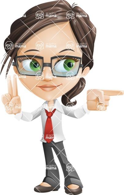 woman vector female cartoon character - Nikki - Point2
