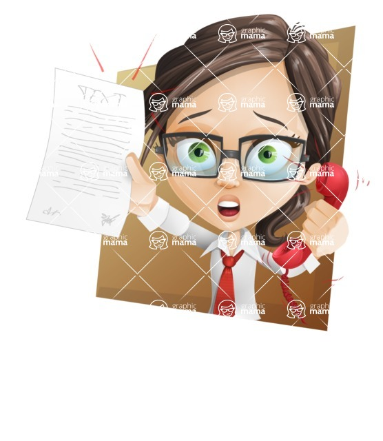 woman vector female cartoon character - Nikki - Shape3
