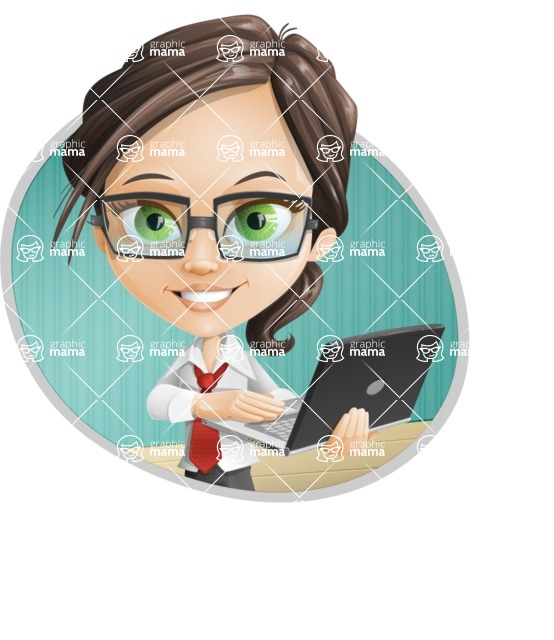 woman vector female cartoon character - Nikki - Shape4