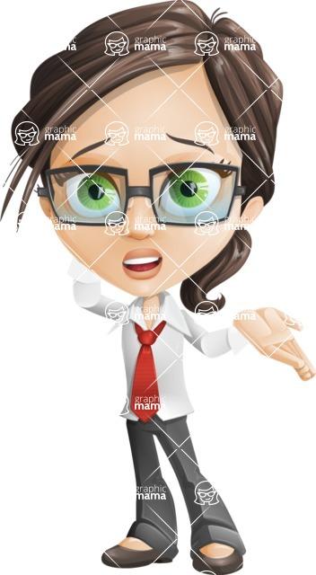 woman vector female cartoon character - Nikki - Sorry