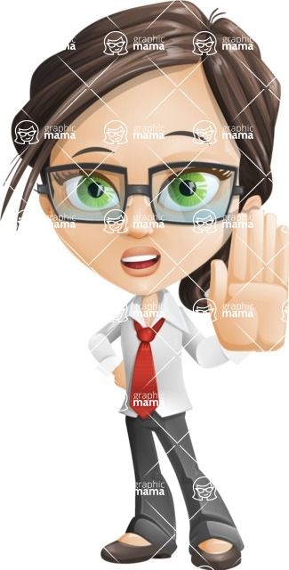 woman vector female cartoon character - Nikki - Stop