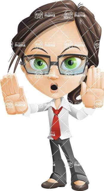 woman vector female cartoon character - Nikki - Stop2
