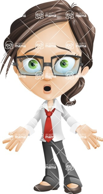 woman vector female cartoon character - Nikki - Stunned
