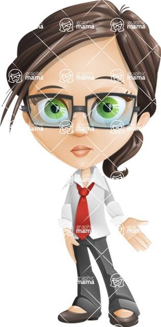 woman vector female cartoon character - Nikki - Sad2