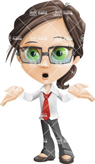 woman vector female cartoon character - Nikki - Oops