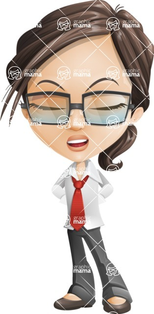 woman vector female cartoon character - Nikki - Bored