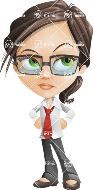 woman vector female cartoon character - Nikki - Bored2