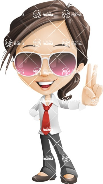 woman vector female cartoon character - Nikki - Sunglasses
