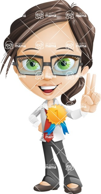 woman vector female cartoon character - Nikki - Ribbon