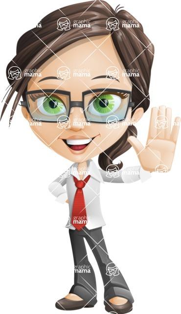 woman vector female cartoon character - Nikki - Wave