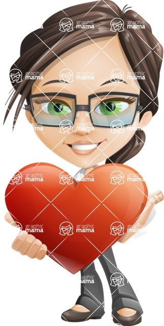 woman vector female cartoon character - Nikki - Love