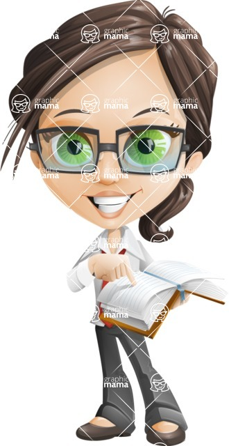 woman vector female cartoon character - Nikki - Book2