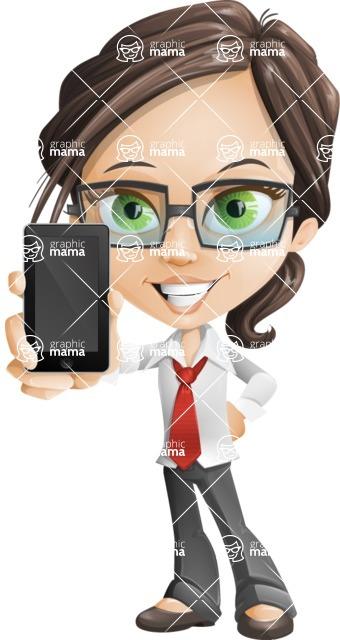 woman vector female cartoon character - Nikki - iPhone