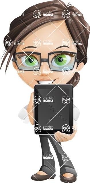 woman vector female cartoon character - Nikki - iPad2