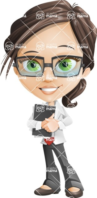 woman vector female cartoon character - Nikki - Notepad1