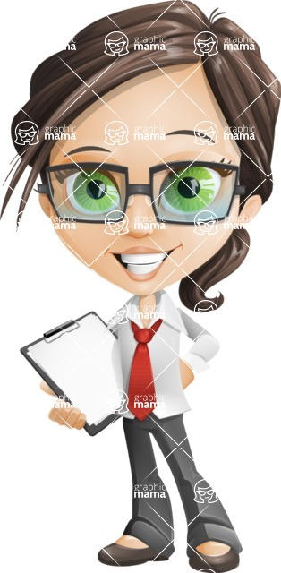 woman vector female cartoon character - Nikki - Notepad2
