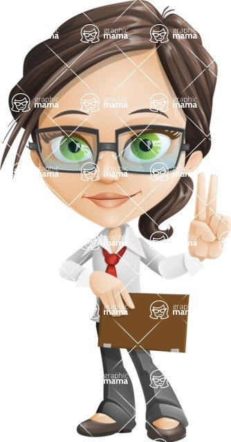 woman vector female cartoon character - Nikki - Notepad4