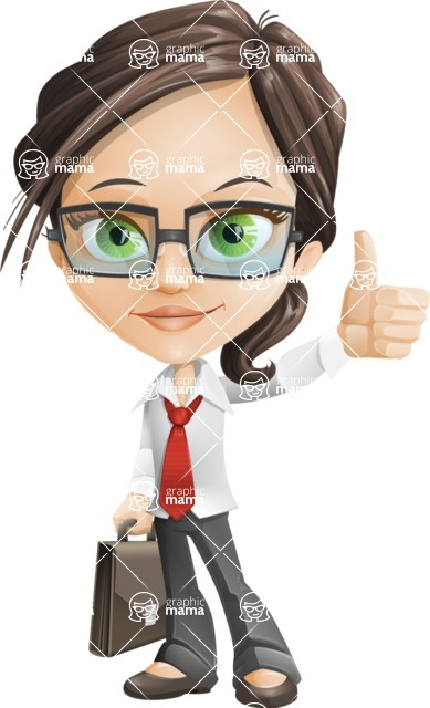 woman vector female cartoon character - Nikki - Briefcase1