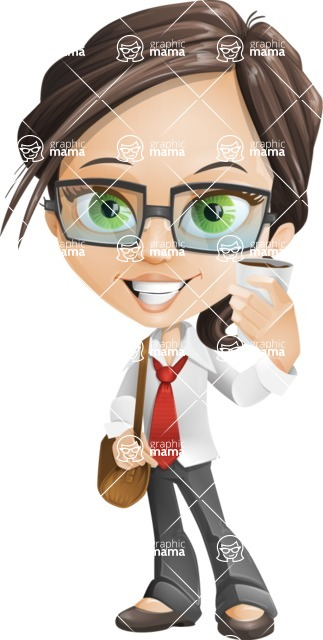 woman vector female cartoon character - Nikki - Travel2