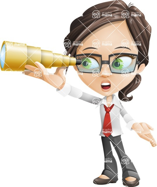 woman vector female cartoon character - Nikki - Telescope