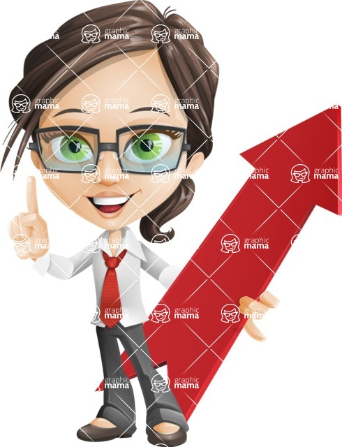 woman vector female cartoon character - Nikki - Pointer1