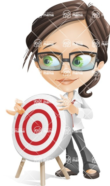 woman vector female cartoon character - Nikki - Target