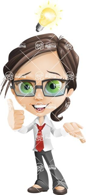 woman vector female cartoon character - Nikki - Idea1