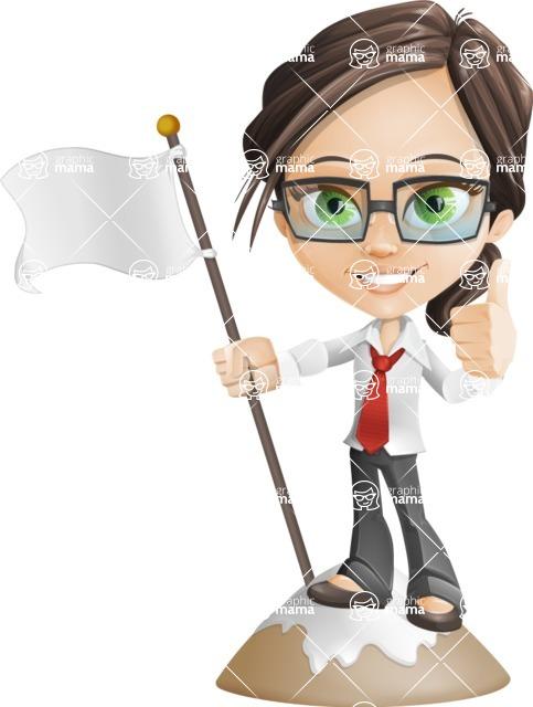 woman vector female cartoon character - Nikki - On Top