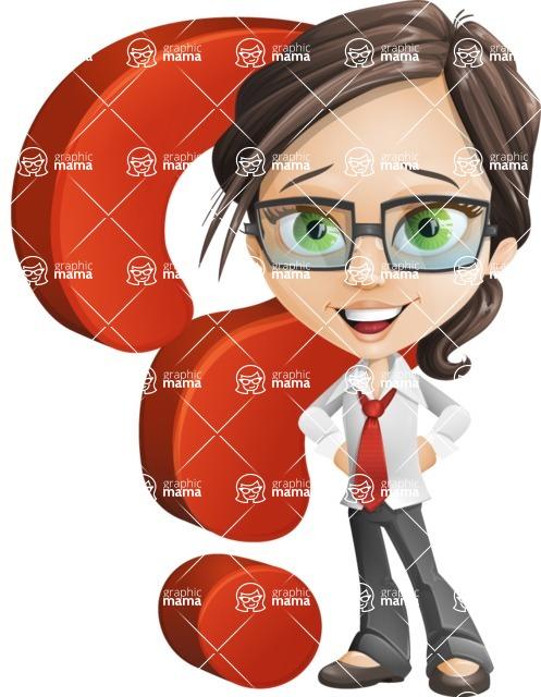 woman vector female cartoon character - Nikki - Question