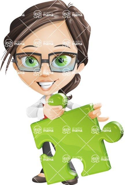 woman vector female cartoon character - Nikki - Puzzle