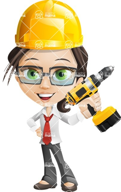 woman vector female cartoon character - Nikki - Under Construction2