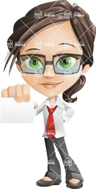 woman vector female cartoon character - Nikki - Sign1