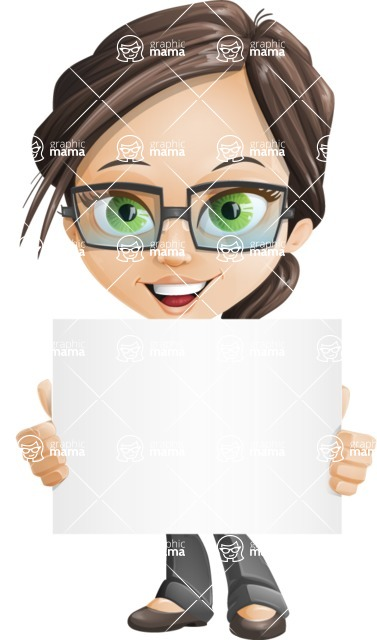 woman vector female cartoon character - Nikki - Sign3