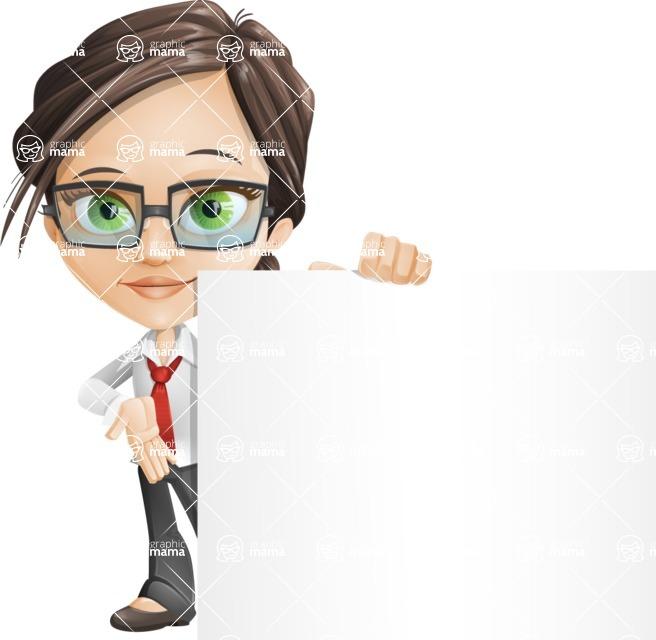 woman vector female cartoon character - Nikki - Sign7