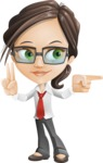 Little Business Girl Cartoon Vector Character AKA Nikki the Cute Geeky - Point2