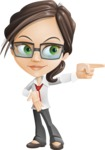 Little Business Girl Cartoon Vector Character AKA Nikki the Cute Geeky - Direct Attention2