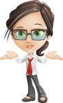Little Business Girl Cartoon Vector Character AKA Nikki the Cute Geeky - Lost2